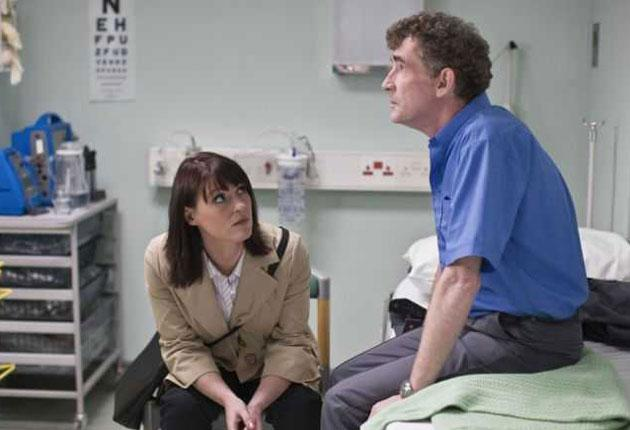 Mystery appeal: Suranne Jones and Steve Evets in 'Five Days'