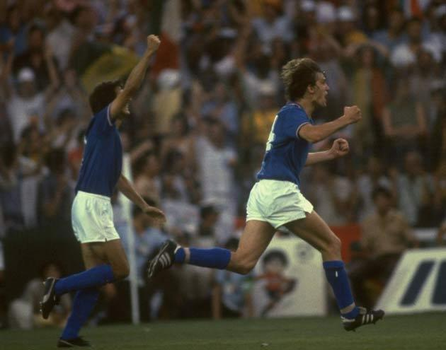 <b>93. MARCO TARDELLI</b><br/>  The 1982 World Cup was won by Italy, who overcame Germany 3-1 in the final at the Santiago Bernabeu in Madrid. The enduring image came from Marco Tardelli. A quick ball across the box was controlled with a deft touch before