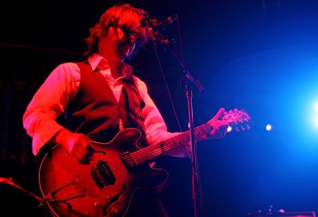 Mark Linkous of Sparklehorse performs during the 2007 Coachella Music Festival in California