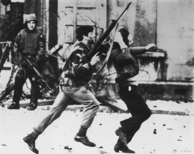 Scenes of death and violence on the Bogside