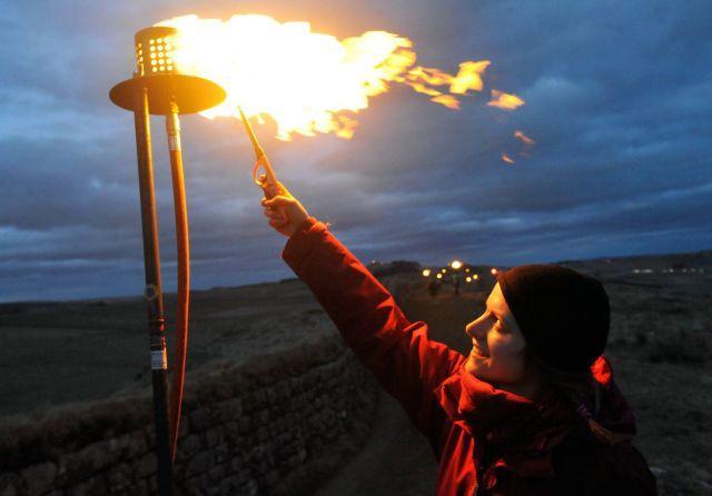 Lighting up Hadrian's Wall