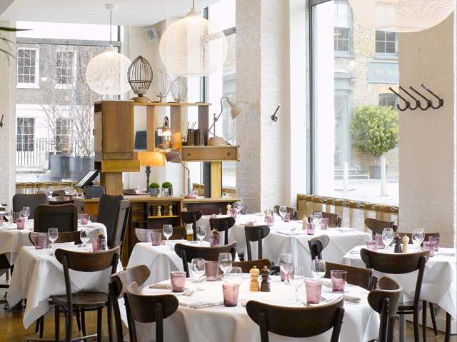 Bistrot Bruno Loubet is located within the Zetter, a cool-for-cats hotel in London's Clerkenwell