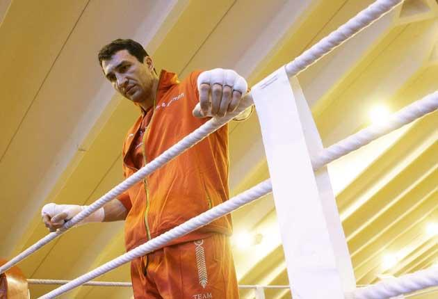 An odds-on favourite to retain his titles tomorrow, a relaxed Wladimir Klitschko holds court in London