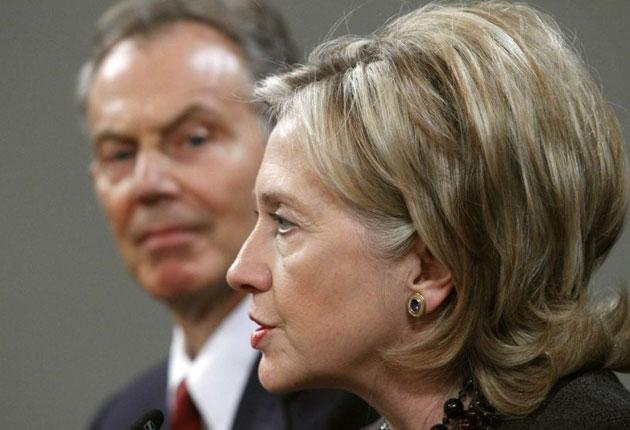 Blair and Clinton hope package will unlock Middle East peace talks