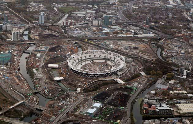 A view of the Olympic site in Stratford