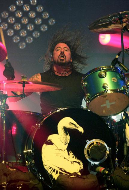 Stick it to them: Dave Grohl of heavy rockers Them Crooked Vultures