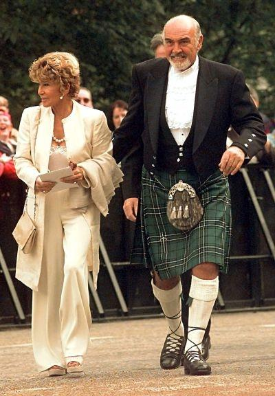 Scottish actor Sean Connery with wife Micheline
