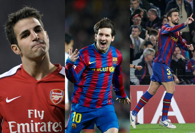 Cesc Fabregas, Lionel Messi and Gerard Pique were all members of the 2002 Barcelona youth team