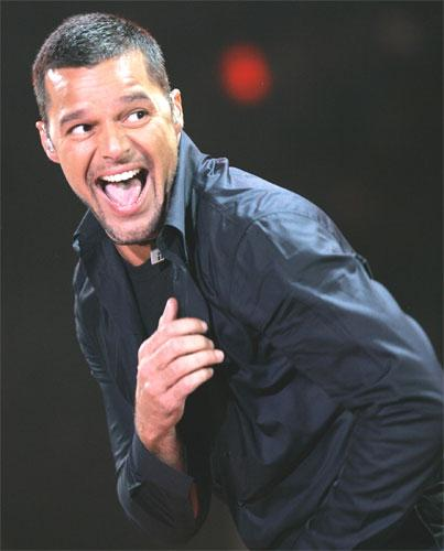 Ricky Martin on stage in Mexico City