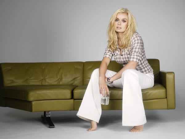 Barefoot diva: Katherine Jenkins, who says she doesn't own a pair of flat shoes, is aiming for superstardom in the USA to match her success in the UK