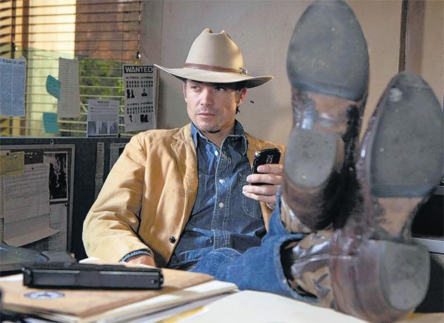 All quiet on the Western front: in Justified, Timothy Olyphant stars as Deputy US Marshal Raylan Givens, for whom actions speak louder than words.