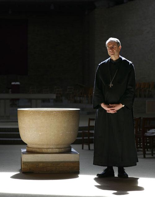 Abbot Christopher Jamison at Worth Abbey, Sussex, last week: 'My key insight in the new TV series is that everybody has a contemplative urge'
