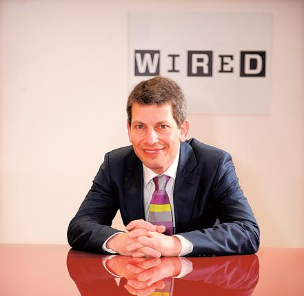 Well connected: David Rowan, editor of Wired magazine, which launched a year ago