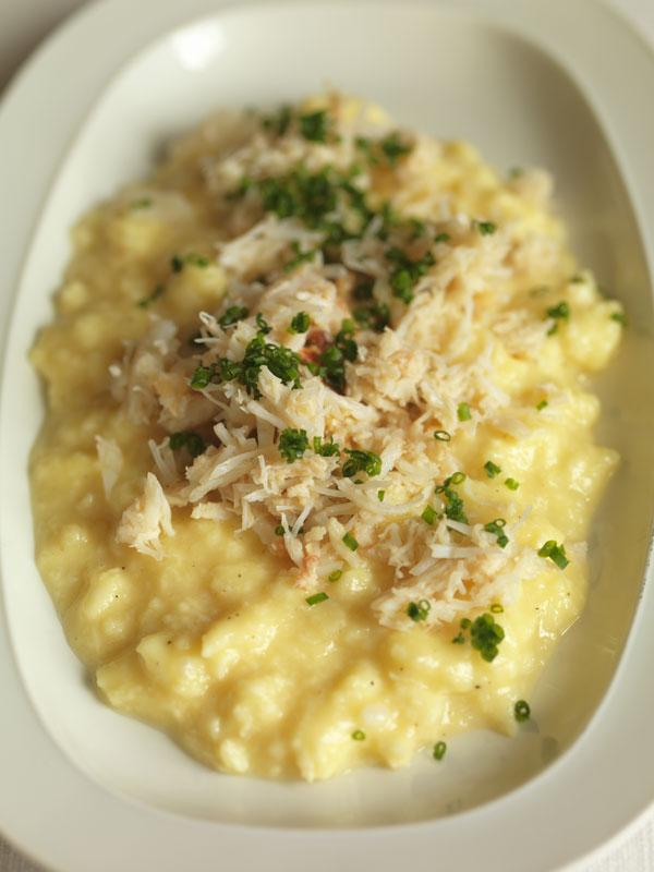 Scrambled eggs with crab would be easy to do for a dinner party