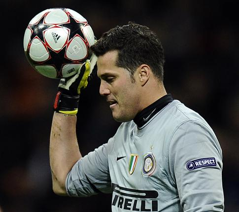 Inter goalkeeper Julio Cesar on the remainder of the season: 'We have to concentrate on the League. Because from now on, every game will be a final'