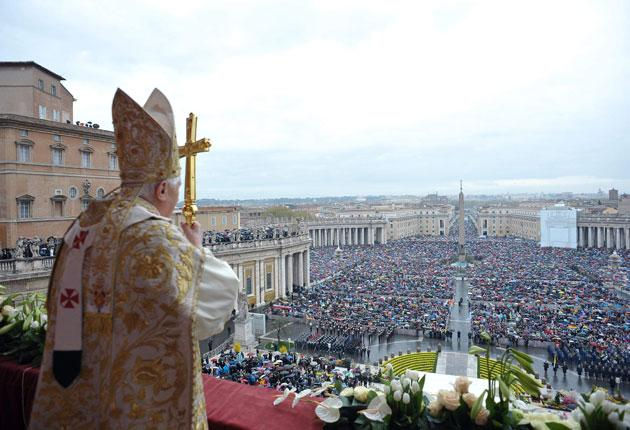 Pope Benedict XVI conducts Easter Mass in St Peter's Square. The Vatican has announced that the Pope will meet with more abuse victims and increase the transparency of the church's internal justice system