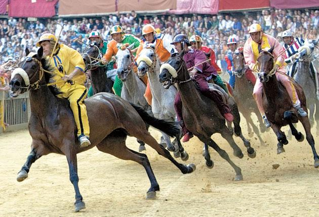 The Palio di Siena is not a race for the faint of heart – how long until we get a British version raced around Soho?