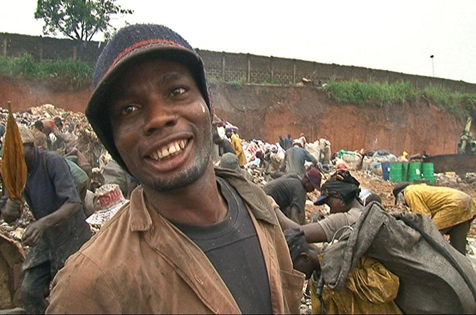 Eric aka Vocal Slender is one of the many people who live on the Olusosun rubbish dump in Lagos, Nigeria.