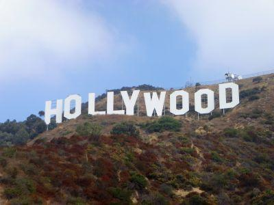 Hollywood sign in the Hollywood Hills, Los Angeles, California