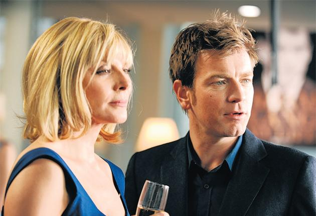 A glass act: Kim Cattrall and Ewan McGregor in Roman Polanski's The Ghost