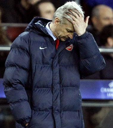 Wednesday's defeat looks to have consigned Arsène Wenger and his Arsenal team to a fifth trophyless season