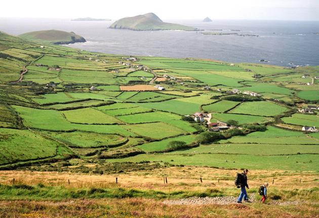 Go green: the Dingle Way coastline in County Kerry