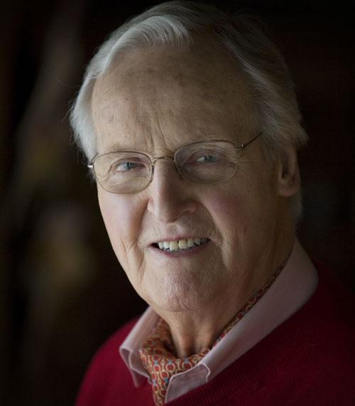 Nicholas Parsons at his home in Buckinghamshire