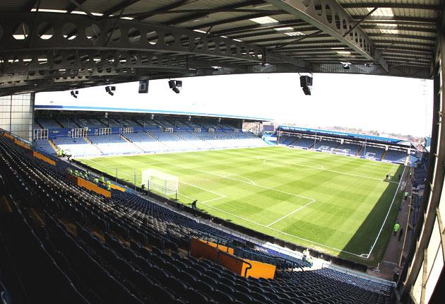Fratton Park, the home of Portsmouth FC. The south- coast club owe £105m including £17m to other teams