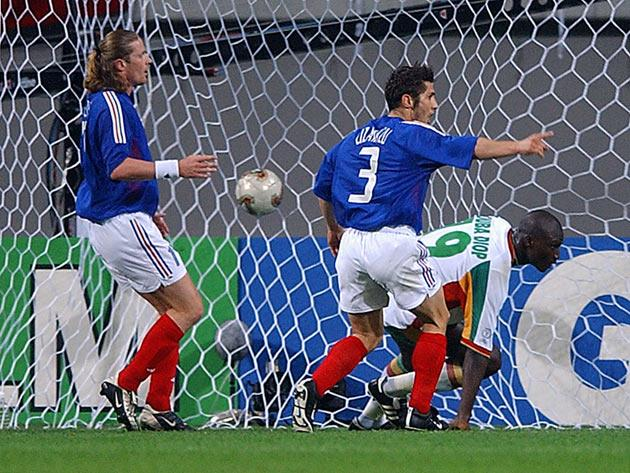 <b>49. FRANCE SHOCKER</b><br/> France arrived at the 2002 World Cup as defending champions and among the favourites. Yet they failed to score a single goal and were eliminated at the group stage. Their limp defence is best remembered for the defeat to Sen
