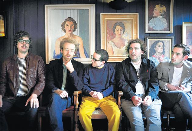 Hanging in there (left to right): Felix Martin, Al Doyle, Alexis Taylor, Joe Goddard and Owen Clarke of Hot Chip