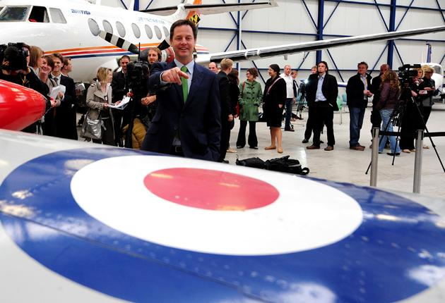 Nick Clegg meets students at the Newcastle Aviation Academy