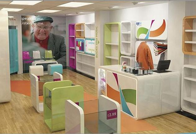Age UK's new outlets have white walls, wooden floors and trendy furniture