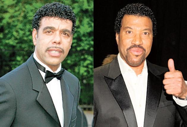 Say you, say me: Chris Kamara (left) and lookalike Lionel Ritchie