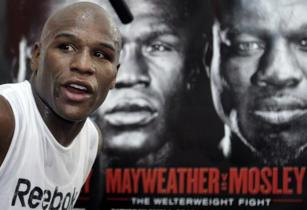 Sweat science: Floyd Mayweather Jnr is not fighting for Shane Mosley's title; 'It's all about enhancing my legacy,' he says