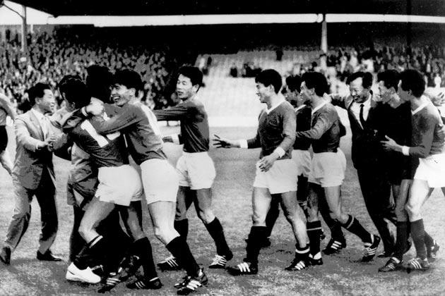 <b>46. Korea shock Italy</b><br/> Korea feature further back in the countdown for their ability to throw away a 3-0 lead. That happened in the 1966 World Cup, and saw their tournament come to an end. Yet prior to that, they produced arguably the greatest