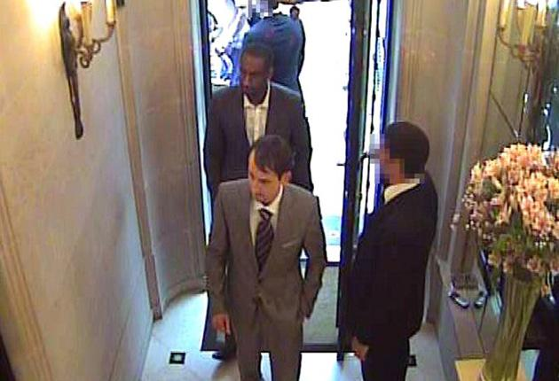 CCTV images of the hold-up at Graff Diamonds