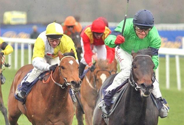 Hearts Of Fire wins the Brocklesby Stakes at Doncaster last year