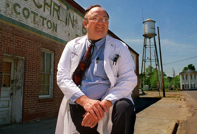 Pioneer: Ed Roberts in 1997, by which time he was working as a doctor
