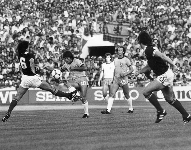 <b>41. Zico silences Scotland</b><br/> Scotland fans found themselves in la la land during the 1982 World Cup. At the Estadio Benito Villamarin in Seville, David Narey had put them a goal up against the mighty Brazilians. And for 33 minutes the stadium wa