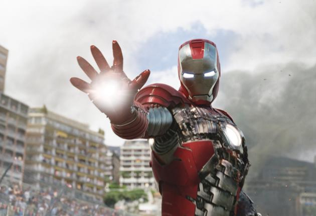 Iron fisted: Robert Downey Jr returns as a playboy industrialist with a superhero alter ego