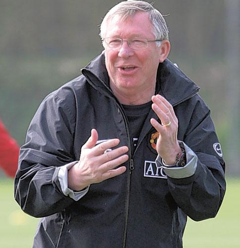 Laughable: 'Agents say 'this player will take a drop in wages from £10m to £8m',' says Sir Alex Ferguson. 'Oh will he? Very good of him'