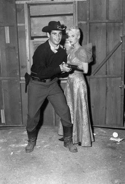 Provine in costume for the television series 'Colt .45' in 1959