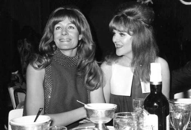 Redgrave, right, with her sister Vanessa at a 1967 post-Oscars party. Both had been up for Academy Awards