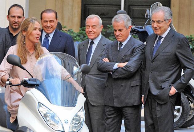 Claudio Scajola, second from right, with Silvio Berlusconi