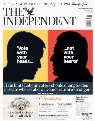 How 'The Independent' reported Peter Hain's remarks yesterday