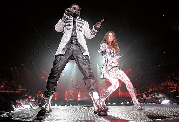 Peas to meet you: Will.i.am and Fergie stick in the mind