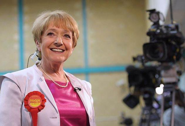 Margaret Hodge, Labour MP for Barking gives a television interview in her Barking constituency