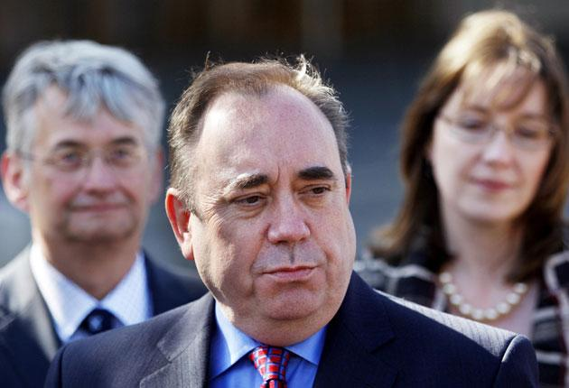 Scotland's First Minister, Alex Salmond, said on Friday that he will use SNP votes as a buffer against London rule