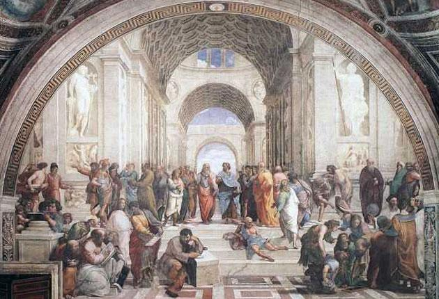 The School of Athens, the cradle of bothWestern philosophy and the concept of democracy - albeit only creating a system that enfranchised a fortunate 20 per cent