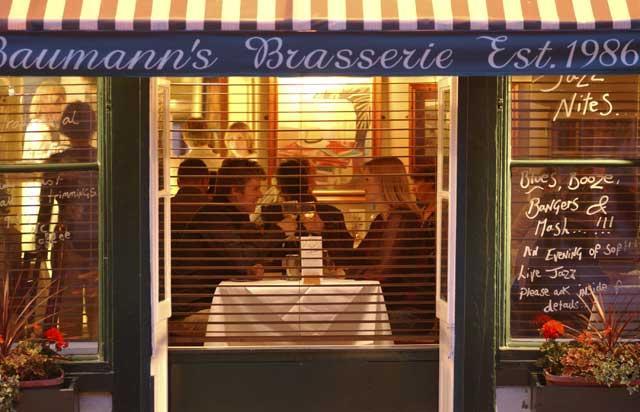 Baumann's Brasserie has plenty of personality